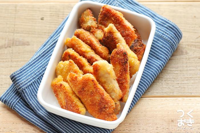 塩麹のパワーで柔らか!フライパンで揚げ焼きにしますので、油の量も少なめ。一人暮らしの方にもおすすめのレシピです。また、揚げておいてあとからトースターで温めるのもOK。冷凍もできます(冷蔵5日)。