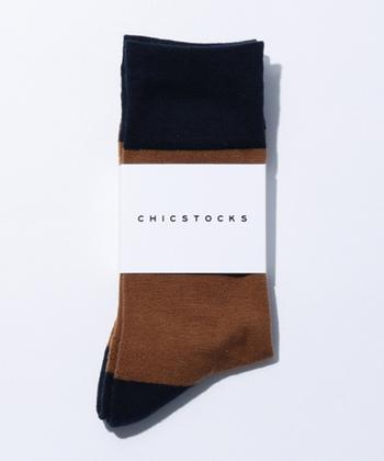 2017年、奈良県発のソックスブランド「CHICSTOCKS(シックストックス)」。日本有数の靴下の産地で作られる高品質なソックスは、リブが長めでズレ落ちにくく、適度な厚みのパイルで長時間履いてもストレスフリー。