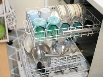食器洗浄機を取り入れるのもいい方法です。実は手洗いよりも効率的に水道使用量を抑えられるんですよ。手荒れも減りますし、導入できる環境にいる人は導入を考えてみるのもおすすめです。