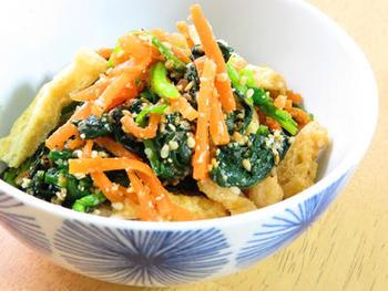 赤&緑のカラフルさが、お弁当に彩りを与えてくれます。見た目も栄養のバランスも良く、満点の副菜です。