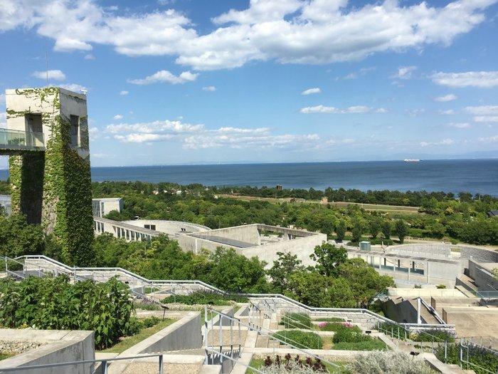 2000年の淡路花博の開幕と共にオープンした「淡路夢舞台」。大阪湾を目の前に、28ヘクタールもの広大な敷地を有し、温室植物園、会議場、ホテル、レストランなど多彩な施設を揃えています。自然との共生を目指した建築群のデザインは、あの安藤忠雄氏。緑豊かな自然に包まれ、植物の生命力を肌で感じながら、1日中、ゆったりとした時間を過ごすことができます。