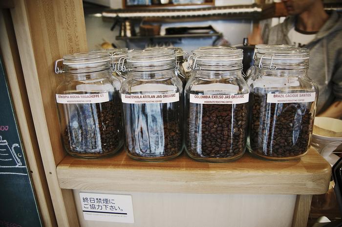 こちらではグアテマラやコロンビア、ブラジルなど様々な産地の豆を楽しむことができます。自分の好みを伝えて色々な国のコーヒーを味わうのもまた楽しい。