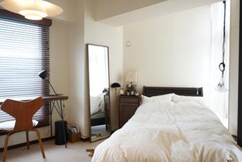 ホテルライクなお部屋づくりのポイントは、なんといってもシンプルで機能的な空間。白を基調に、色数を抑えたインテリアもポイントです。
