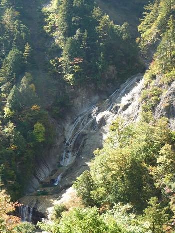 「姥ヶ滝(うばがたき)」は、金沢駅から約1時間半のところにある「白山白川郷ホワイトロード」内にあるスポットです。中宮料金所から蛇谷園地駐車場まで10分ほど車で走って、駐車場からさらに20分ほど歩くと到着。  「日本の滝100選」に選ばれたこともある滝のひとつで、滝が流れ落ちる様子が老婆の白髪に見えることから名づけられたのだそう。滝に向かう途中も自然を満喫でき、心身ともにリフレッシュできます。歩きやすい服装で閉門時間をチェックしてから出かけましょう♪
