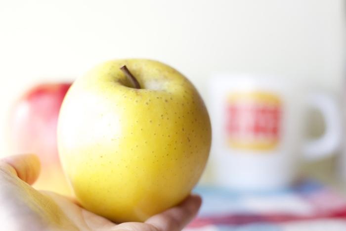 長野県農業試験場で誕生した、「ゴールデンデリシャス」と「千秋」の両親を持つ黄色いりんご。ヨーロッパで人気を得、イタリアでは現地栽培がスタートしました。