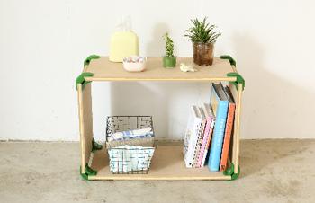 コネクターの色は5色から選べます。木材を自分のお好みの色にペイントして、世界にひとつだけのオリジナルの家具を作っちゃいましょう♪