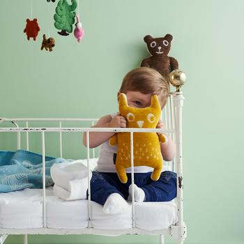 オーガニックのシュニールコットン100%で、洗濯機で丸洗いできるので、アレルギーが気になるお子様にもおすすめです。 KLIPPAN+ Baby&Kidsパートナーショップ限定販売のスペシャルコレクションなのだそう。
