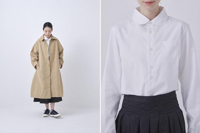 シャツを合わせたシンプルなベーシックコーデも「チノプリーツスカート」ならグッとおしゃれに決まります。 シャツをインしても腰回りをすっきり見せてくれるので、スタイルアップも叶います。 トレンチコートを羽織っても、そのふんわりとしたシルエットが綺麗に表現され、裾から覗いたミモレ丈もほどよいバランスでコーデをまとめてくれます。