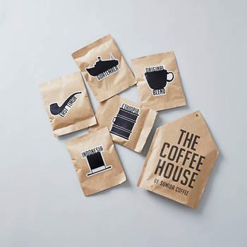 世界のコーヒー産地から、個性の違いが楽しめる5種類を厳選。インドネシア産、東ティモール産、エチオピア産 、グアテマラ産、すみだ珈琲オリジナルブレンド、それぞれの味をティーバッグと同じように、手軽に美味しく抽出できます。