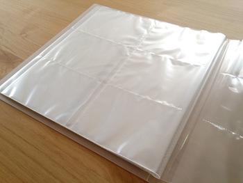 こちらのブロガーさんは、無印のポリプロピレンアルバムのLサイズを愛用。L判サイズの写真なら264枚も収納可能だそうです。