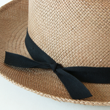 帽子本体と異なる素材のワッペンやリボンがついている場合は、一緒に洗うと色移りしてしまう可能性があります。また、洗っている間にうっかり取れてしまうことも。外せるものはなるべくはずして、洗ってからもう一度つけるようにするとよいでしょう。