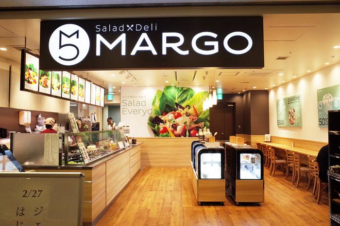 """新宿グランドタワーの地下1Fにある「サラダデリMARGO 新宿グランドタワー店」は、""""自然まるごと、サラダサプリ""""がコンセプトのサラダデリ専門店です。"""