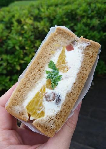 スイーツ系のサンドイッチもおすすめです。水切りヨーグルトの爽やかなクリームと旬のフルーツのサンドイッチは、デザート感覚でいただけます。外で食べるのが楽しくなるようなサンドイッチは、ピクニックのお供にぴったりです。