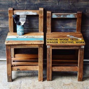 DIYと言っても、既製品をリメイクしたりペイントし直したりだけでできる簡単なものもあります。もちろん、一から作れば思い入れもひとしお。そんな椅子やスツールのDIYアイデアをご紹介します。