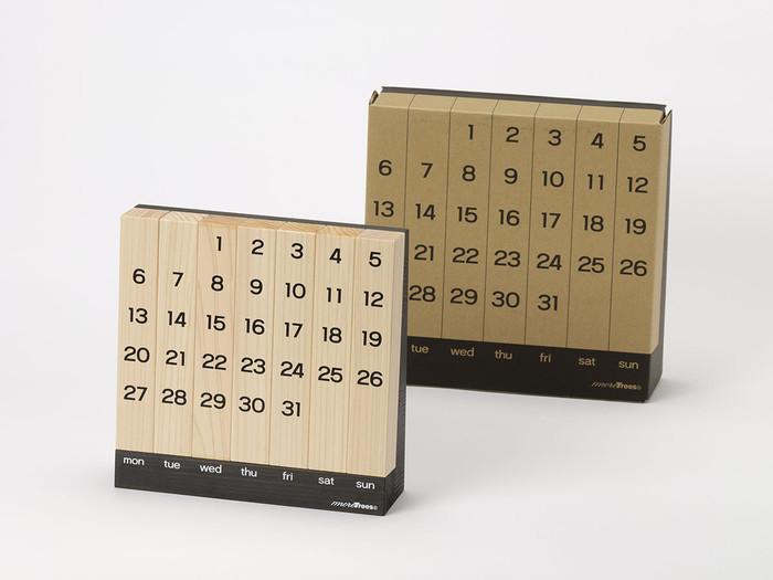 アート作品としてだけでなく、サスティナビリティも考えられたカレンダー。