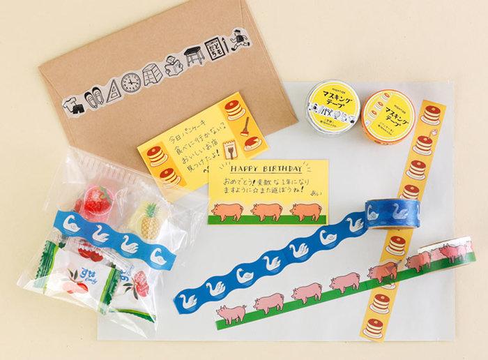 お手紙やプチギフトの封として使うと、なんだかかわいいですね!クセになる愛らしさで、シリーズで揃えたくなります。