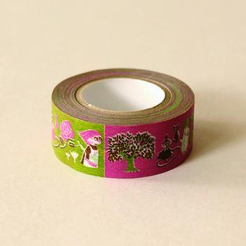 和紙でつくられた日本製のマスキングテープは、薄いのにとっても丈夫!しっかりくっつくのにはがすのもラク!と嬉しいことだらけ。