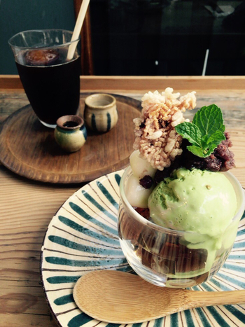 今月の箸間(あまいもの)として、季節のスイーツもあります。コーヒーやソフトドリンクでカフェタイムも◎