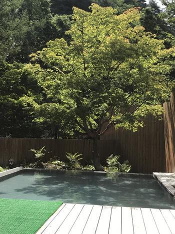 緑に囲まれた開放的な露天風呂も気持ちがいいです。