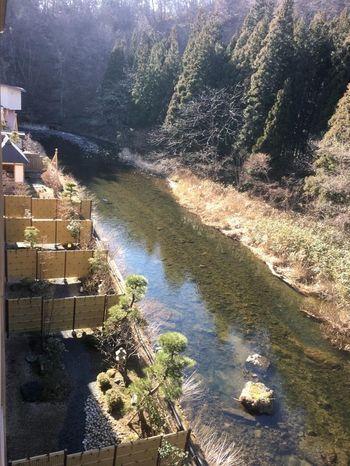 一部屋ごとに仕切られたお庭で豊沢川の渓流を眺めることができます。