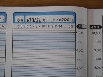 ざっくり、日用品は「日用品費」として一ヶ月にいくらと決めてレシートを貼ります。  これは何費かな?などと細かく考えなくていいので、毎日の家計簿にも取り掛かりやすくなります。