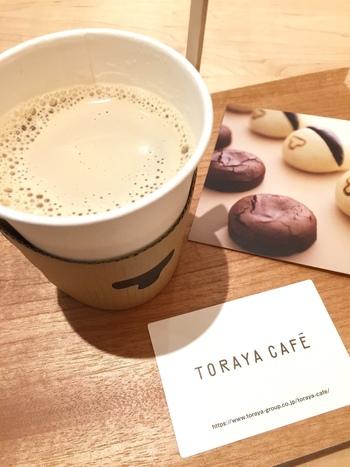 ドリンクは、「あんペーストカフェオレ」がおすすめ。意外な組み合わせですが、あっさりとしてやさしい味わいです。ホットとアイスがありますよ。