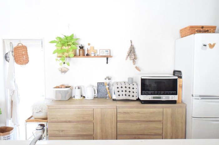 キッチンから広がる楽しい暮らし。あなたもお気に入りのキッチン用品が映える素敵なキッチンを実現してくださいね。