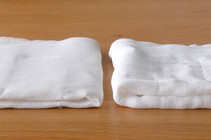東屋の「ふきん」は吸水性と速乾性に優れた蚊帳生地が使われています。使い込むごとに手に馴染むやわらかさが魅力です。食器用から台ふきん、掃除用まで、クタクタになるまで長く使い続けたいアイテムですね。