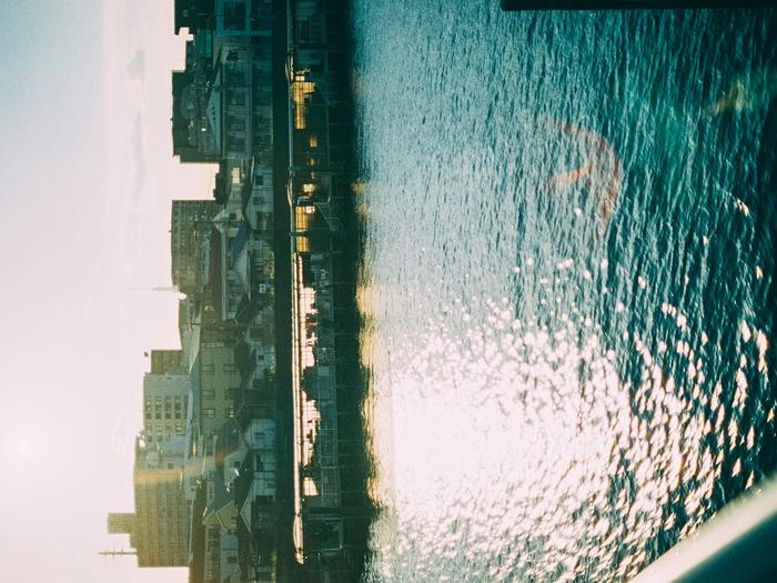 『江戸川の夕焼け』 NikonFE+Ai Nikkor 50mm F1.4S