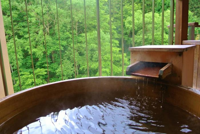 【単純泉】 単純温泉とは成分が単純なのではなく、含有成分の量が一定量に達していないものを言います。 ・低刺激でお肌にやさしい。 ・リハビリ効果がある。 ・リラックス効果があるので、疲労回復やストレス解消にいい。  【アルカリ性単純泉】 アルカリ性単純温泉はpH値8.5以上の単純温泉です。弱アルカリ性単純温泉は、pH値7.5以上です。 ・肌の角質をとって美肌効果が期待できる。  【硫黄泉】 遊離炭酸ガスや硫化水素を含有しない「硫黄泉」と遊離硫化水素や炭酸ガスを含有する「硫化水素泉」の2種類があります。 ・お湯の色が白濁または黄褐色。 ・殺菌効果が高い。 ・慢性的な皮膚病、切り傷にいい。 ・血管を拡張するので、生活習慣病にいい。  【塩化物泉】 食塩を含んだ無色透明の湯。皮膚に付着した塩分で汗の蒸発を防ぐため、保温効果がいいと言われています。 ・湯冷めしにくい。 ・殺菌力があるので、傷ややけどにいい。 ・保湿効果があるので、肌にいい。 ・女性特有の体の悩みにいい。