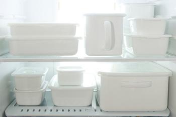 中でも人気の「ホワイトシリーズ」は、バットやボウル、保存容器から調理器具までなど様々なタイプがそろっており、キッチンアイテムのほどんどをホワイトシリーズで揃えているというおうちもあるそう。