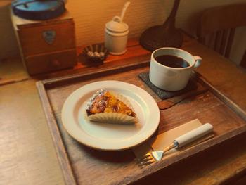 見た目も味も大満足の「タルト」。コーヒーとの相性もよくて幸せな時間を過ごせます。