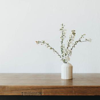 たくさんのお花を飾るのは、生花のようでちょっとセンスが問われて緊張してしまいますが、一輪挿しなら買ってきたお花をぽんと花瓶に挿すだけ。小ぶりなサイズで、初心者さんにもおすすめです。