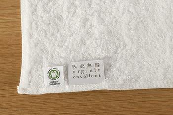 オーガニックコットン製にこだわるなら、<天衣無縫>。日本のオーガニックコットンの先駆け的存在で、オランダの審査機関CUCの厳しい審査をクリアした、確かなオーガニック製品を製造・販売しています。