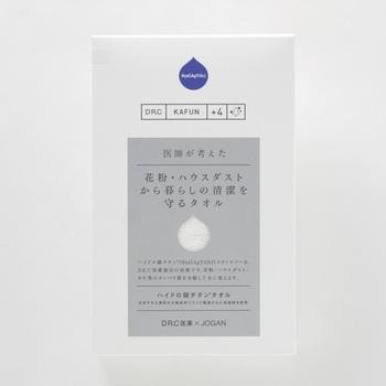 日本のタオル産業発祥の地、大阪泉州で70年以上タオルを作り続けているタオルメーカー<JOGAN>。このJOGANが医薬会社・DR.C医薬と共に作ったのが、ハイドロ銀チタンⓇタオルです。