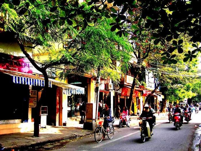 ハノイの旧市街は、ホアンキエム湖の北部に位置する職人の街です。道ごとに「金物」「紙もの」「漢方薬」など専門店が立ち並び、昔ながらの職人のいる歴史の古い商業地区として有名です。地元の人たちも目当てのものがあれば、旧市街の専門店に足を運びます。観光客には専門店を見ながら散歩したり、お土産スポットとして有名です。