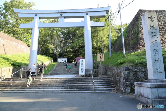"""仙台市内にある「仙台城跡」は、""""青葉城""""の名で親しまれ、1610年(慶長15)年に初代仙台藩主の伊達政宗が築城しました。現在は建物は残っていませんが、敷地はおよそ2万坪と広大で、全国規模を誇るお城だったと言われています。"""