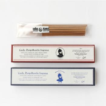 柔らかさもありながら、個性的で絶妙なバランスの「CANDY DESIGN&WORKS(キャンディデザイン&ワークス)」のお香。英国風のパッケージですが、日本で全ての行程を行なっています。