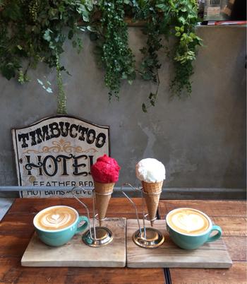おすすめはアイスクリーム!アイスクリームとコーヒーの意外な相性の良さにびっくりしてしまいます。優しい甘味の大人のためのアイスクリームは、寒い季節でもぺろりといただけますよ。