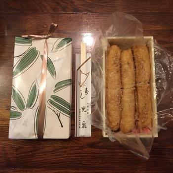 お土産にぴったりなのはもちろん、お昼のお弁当にもおすすめ。近くの広場など、外でいただくのも美味しいですよね♪  北鎌倉の円覚寺では弁当の持ち込みが可能。また源氏山公園などへのハイキングのお供にするのも◎(もちろん、包み紙等のゴミは各自持ち帰り)。  ※画像は「いなり寿司」