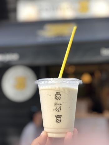 かわいいバナナのマークがトレードマークで、八丁堀本店をはじめ都内に数店舗あります。