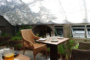 至るところにハーブの鉢植えが置かれ、まるで温室のよう。この独特の癒し空間にひかれて、何度も通うお客さんも多いんだとか。