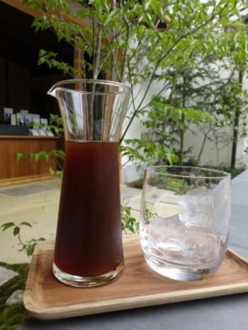 これから暖かくなる季節はアイスコーヒーもおすすめです。アイスコーヒーはデキャンタに入れて提供してくれるので、見た目も涼しげです。