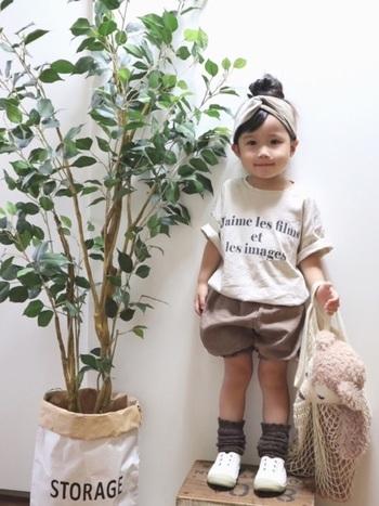 合わせる服によっては、こんなおしゃれなコーディネートも叶います。洋服にこだわりのあるママやお子様からも大人気。