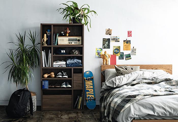 明るいナチュラルな色合いの他に、シックでかっこいい色合いも。お部屋の雰囲気で選べます。