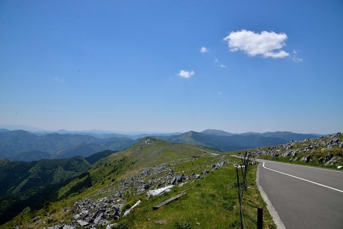 松山、内子、宇和島、高知の4方面から四国カルストにはアクセス可能です。松山方面から車で1時間40分程度、その他は2時間半程度の道のりです。