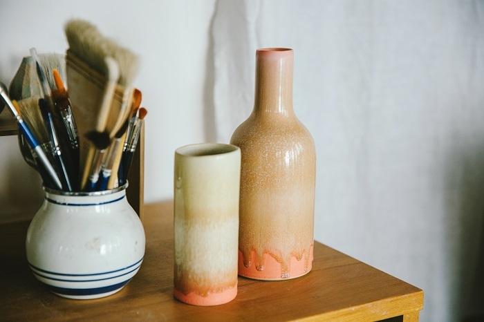 花器を作るきっかけとなったエリックの花器。ワークショップの最後の日、エリックにお願いして買ったもの