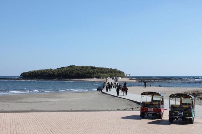 宮崎市にある「青島」は、周囲約1.5kmの小さな島で、国の特別天然記念物に指定されています。昔は霊地として一般人が島に入ることを許されていなかった神聖な場所でした。