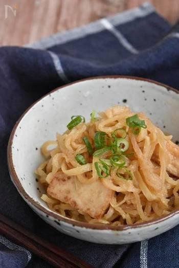 ごま油で焼いた厚揚げが香ばしくて食欲そそる簡単煮物のレシピ。切り干し大根と厚揚げだけのシンプルな材料ですが、栄養も食べ応えもあります。お弁当にもぴったりな作り置きレシピです。