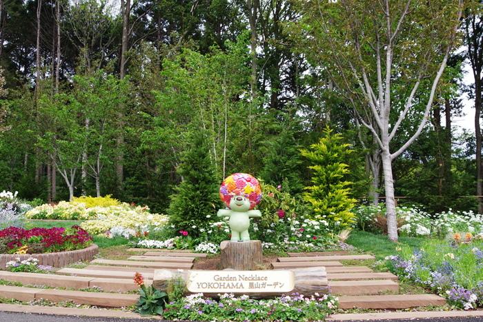 「里山ガーデン」は、横浜市旭区上白根町にある公園。横浜動物園ズーラシアに隣接しています。市内最大級10,000㎡の大花壇では、チューリップやパンジー、ビオラ、キンギョソウなどを中心に約150品種の花々を楽しめます。